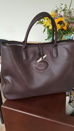 Don't you just love Chocolate?! I do, especially when it's on a Longchamp Roseau Heritage Bag. Yummy!!