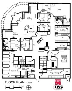Veterinary floor plan: All Pets Medical Center More