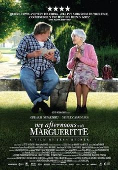 A charming French film with an illiterate Gérard Depardieu bonding with a well-read older woman (Gisèle Casadesus) - 'My Afternoons with Margueritte'. I love love loved this film! Good Movies To Watch, Top Movies, Great Movies, Indie Movies, Netflix Movies, Movies Online, Movie List, Movie Tv, Bon Film