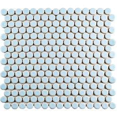 Blue Penny Tile On Pinterest Penny Round Tiles Tile And