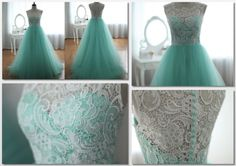tulle green dress for bridesmaid
