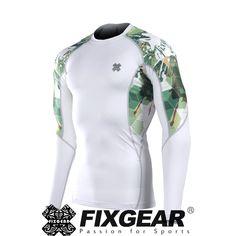 FIXGEAR C2L-B1 Compression Base Layer Shirt for Workout Gym MMA Sportswaer