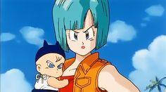 Dbz, Vegeta And Bulma, Bulma Y Trunks, Dragon Ball Z, Anime Guys, Manga Anime, Baby Trunks, Broly Movie, Popular Manga