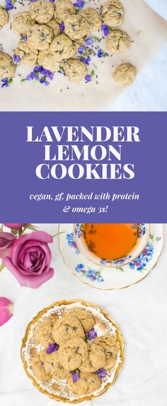 These super healthy Lavender Lemon Cookies taste AMAZING and are super easy to make.