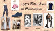 1950 fashion Jargons and product Categories