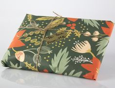 Pretty wrapping paper from Rifle Paper Co.