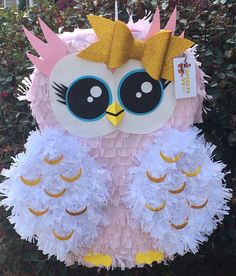 Handcrafted Custom Made Large Owl Pinata Valentine Box, Valentines For Kids, Diy And Crafts, Crafts For Kids, Owl Birthday Parties, Party Fiesta, Etsy, First Birthdays, Craft Rooms