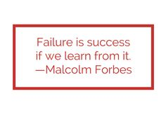 Are you learning from failure?