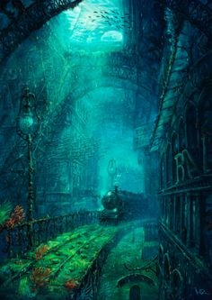 So what's the story here... a version of Hogwarts-Atlantis via Paris?? Michael Raaflaub - credit to: pinterest.com/joaoramoss/