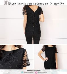 DIY Sewing | Cómo hacer una blusa de encaje con botones en la espalda | Lace Blouse