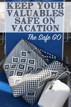 The Safe-Go is a small safe or vault that locks to a beach chair, stroller, bench, tree, (whatever!) that can hold your valuables. It can hold two iPhones,