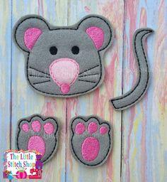 Mouse Set Over Sized: The Little Stitch Shop