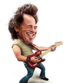 Caricature Bruce Springsteen