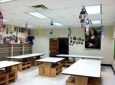 Theresa Gillespie's art classroom