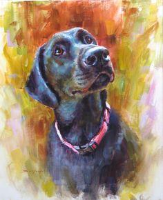 Emma 22x18  Custom pet portraits by Michael Bellotti bellottiart.com
