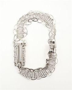 Diamond chain lock necklace