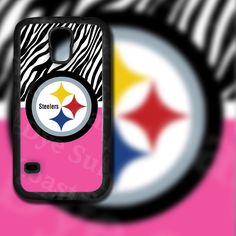 Pink & Zebra Print Pittsburgh Steelers Design on Samsung Galaxy S5 Black Rubber Silicone Case by EastCoastDyeSub on Etsy https://www.etsy.com/listing/196353987/pink-zebra-print-pittsburgh-steelers