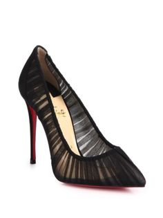 4dbda4aeda00 Christian Louboutin - Chiffon Point-Toe Pumps Fab Shoes