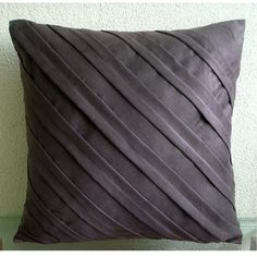 Contemporary Chocolate Brown  Euro Sham Covers  by TheHomeCentric