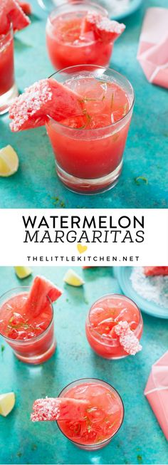 Watermelon Margaritas from thelittlekitchen.net