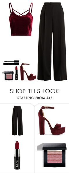 """I want you"" by arianabut1993 on Polyvore featuring RED Valentino, Steve Madden, NYX, Bobbi Brown Cosmetics and Gucci"