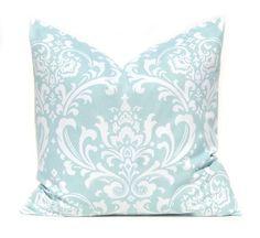 Aqua Pillow Blue Pillow Decorative Throw by FestiveHomeDecor, $15.00