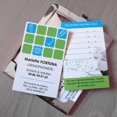 Cartes de visite pour une orthophoniste. © 2011
