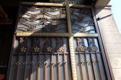 Art Nouveau detail of the door Tenement block Piotrowska Street