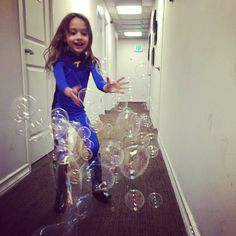 When you tickle Maya, bubbles come out of her.