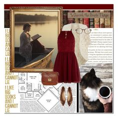 """reading at the lakehouse"" by lifestyle-ala-grace ❤ liked on Polyvore featuring Americanflat, Lisa Maree, New Look, Liz Claiborne, Merona, Selim Mouzannar, Corinne McCormack and DutchCrafters"