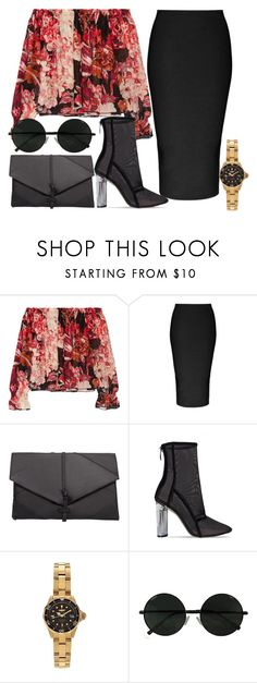 """""""Untitled #1708"""" by beaukastin ❤ liked on Polyvore featuring Elizabeth and James, Cushnie Et Ochs, MANGO and Invicta"""