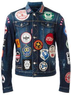 Dsquared2 patch detail jean jacket 1e26f61dbceea