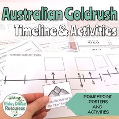 Australian Gold Rush Timeline Posters and Student Activities - Ridgy Didge Resources Powerpoint Poster, Primary School Curriculum, Australian Curriculum, Gold Rush, Social Studies, Teaching Resources, Activities, Posters, Events