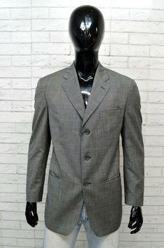 Giacca Uomo YVES SAINT LAURENT Taglia 52 Jacket Man Blazer Grigio Lana  Vergine Saint Laurent 8b8af8eb502