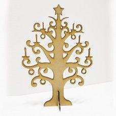 MDF Christmas Candle Tree