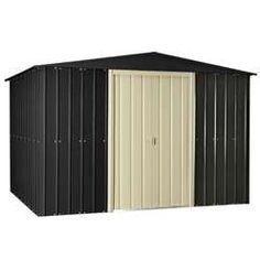 10 x 12 slate grey metal shed