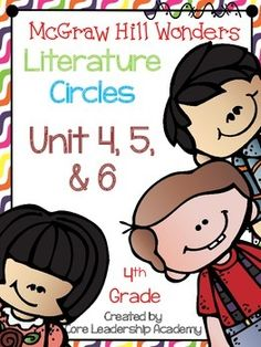 Thinkmark Literature Circle graphic organizer ~ Unit 4,5,& 6~There are 4 different levels approaching, on, ell, and advance for each Unit!  Great for literacy centers! Enjoy!Unit 4~ 24 organizersUnit 5~ 24 organizersUnit 6~ 24 organizers