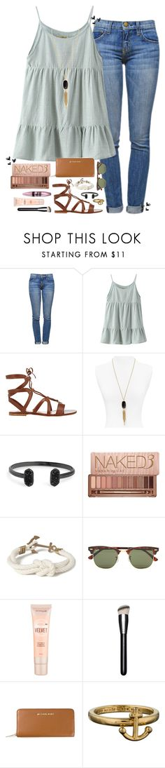 """Babysitting "" by smbprep ❤ liked on Polyvore featuring Current/Elliott, Chicnova Fashion, Gianvito Rossi, Kendra Scott, Urban Decay, Kiel James Patrick, Ray-Ban, Maybelline, MAC Cosmetics and MICHAEL Michael Kors"