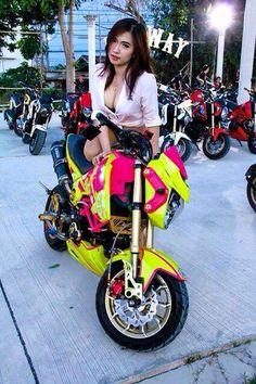Grom Bike, Honda Grom, Honda Motorcycles, Cars And Motorcycles, Mini Bike, Go Kart, Bikers, Motorbikes, Badass