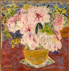 ❀ Blooming Brushwork ❀ - garden and still life flower paintings - Pierre Bonnard | Pink Bouquet