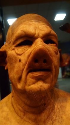 CFX silicone mask at the St. Louis Transworld Halloween and Haunt Convention 2014.