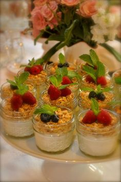yogurt and fruit parfait breakfast treats.  DSC_0857
