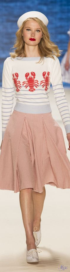 Love this throwback, the skirt color challenges tradition, but works perfectly for Bill. Spring 2017 Ready-to-Wear Lena Hoschek | Berlin Fashion Week