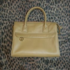 Giani Bernini Purse Tan color satchel from Macy's in excellent condition. No flaws Giani Bernini Bags