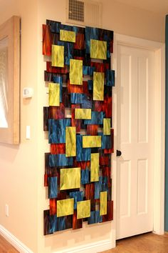 Bring color and depth to your walls. Elevate by Karo Martirosyan. Art Glass Wall Sculpture available at www.artfulhome.com