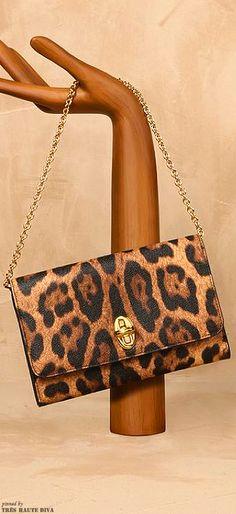 Dolce & Gabbana Leopard-Print Taormina Clutch | ~LadyLuxury~