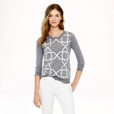 PRE-ORDER MERINO TIPPI SWEATER WITH TILE EMBROIDERY