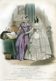 Fashion Plate - Le Moniteur de la Mode, April 1847