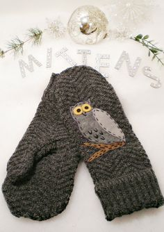Recycled, Repurposed, Upcycled Wool Cotton Sweater Mittens. $15.00, via Etsy.