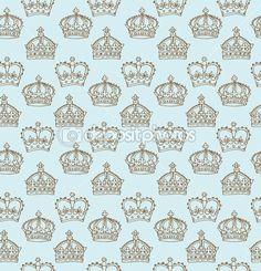 블루 왕관 패턴 — 스톡 벡터 © OMW #48659023